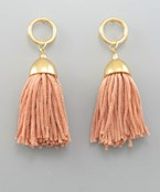Tassel & Circle Earrings