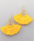 Swirl & Tassel Earrings