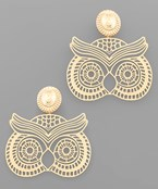 Filigree Owl Earrings