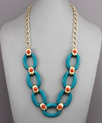Acrylic Linked Chain Necklace