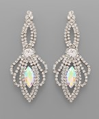 Marquise Crystal Dangle Earrings