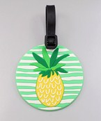 Pineapple Round Luggage Tag