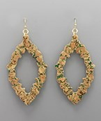 Cork C-Out Wavy Marquise Earrings