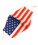 Jeweled US Flag Fashion Mask
