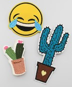 Cactus & Smiley Patch Set