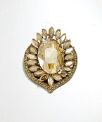 Oval Crystal Pin