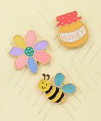 Honey Bee Pin Set