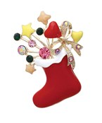 Christmas Sock Brooch Pin