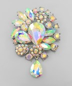 T-Drop Crystal Brooch