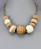 Rattan Ball Necklace