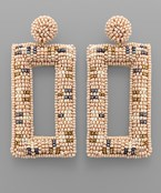 Bead Rectangle Earrings