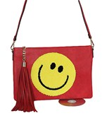 Smiley & Tassel Crossbody