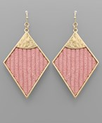 Velvet Rhombus Earrings