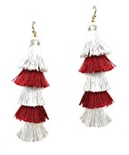 Gameday 5 Layer Tassel Earrings
