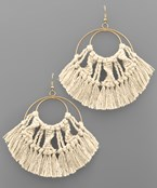 Woven Fan Double Earrings