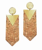 Cork Pentagon Earrings