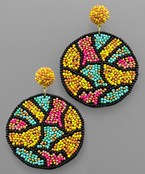 Abstract Bead Earrings