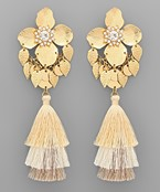 Flower & Tassel Earrings