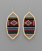 Serape Octagon Earrings