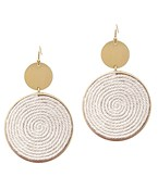 Thread & Metal Disc Earrings