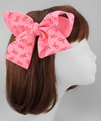 Pink Ribbon Hair Bow Set