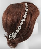 Crystal Flower Hair Chain