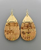 Cork TDrop Earrings