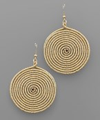 Cord Spiral Earrings