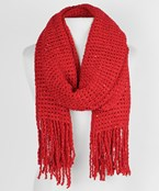 Mesh and Fringed Scarf