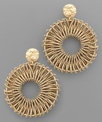 Cord Wrapped Circle Earrings