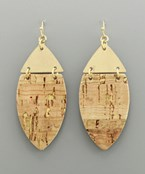 Cork Marquise Earrings