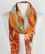 Shell/Sea Pattern Oblong Scarf