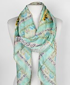 Elephant Pattern Satin Scarf