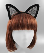 Lace Fox Ears Headband