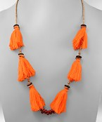 Tassel Station Bead Necklace