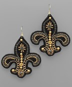 Multi Beads Fleur De Les Earrings