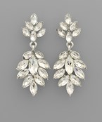 Marquise Crystal Leaf Earrings