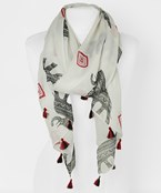 Elephant & Diamond Scarf
