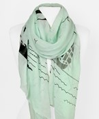 Ship & Waves Scarf