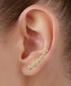 Graduated Round CZ Crawler Earrings
