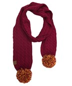 PomPom End Cable Scarf