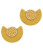 Beaded Disc Leather Studs