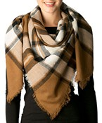 Plaid Print Square Scarf