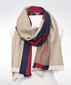 Color Line Oblong Scarf