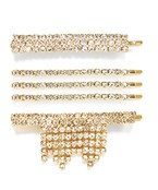 Crystal Bar & Tassel Hair Pin Set
