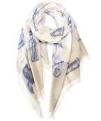 Nautical Print Oblong Scarf