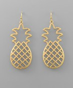 C-Out Pineapple Earrings