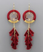 Circle Chain Tassel Earrings