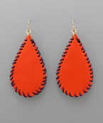 Gameday Stitch Leather Earrings