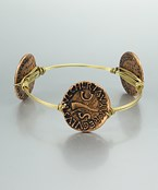 Coin and Wire Bangle